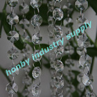 Octagon shape clear color faceted hanging crystal bead strings