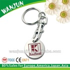 2012 promotional gift euro coin trolley coin keyring