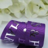 polyester grosgrain tape with stamping silver