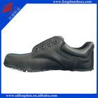 F. G. leather safety shoe upper black SU001