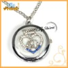 heart key holder watches with pocket watch necklace pendant (T00052)