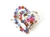 fashion rhinestone heart scarf buckle(SB-83103)
