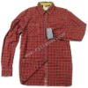 100% cotton yarn dyed oxford check men`s shirts