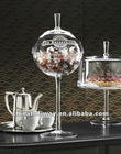 La Bonbonniere Glass Candy Dish, Glass Pedestal Cake Dome