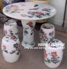 Antique Chinese Hand Painted Ceramic Porcelain Tables and Stools
