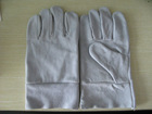 10.5'' grey cow split leather work glove