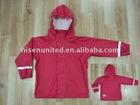 Kid's PU knitted rain suits, Kid's raincoats, Rain set