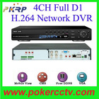 4CH H.264 Network DVR realtime