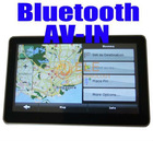 5 inch Bluetooth + AV-IN +FM +MP3 MP4 + 4GB memory + free Map Car GPS