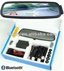 Mirror Bluetooth Handsfee +4 Parking Sensor+ Caller ID & English Display(BT-900)