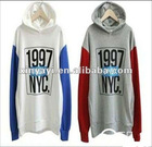 wholesale women 100% cotton stock fleece lady stock hoody for hotsales