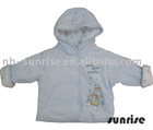 Infant winter velours zipper hoody coat,C&A baby hoody coat