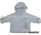 Infant winter velours zipper hoody coat,C&A baby hoody coat