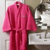 cotton waffle bath robes with dyed fiber