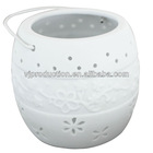 New design White color Hollow out candle Holder CH002