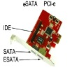 PCIe(PCI express) to 1 IDE + 2 SATA ports card adapter
