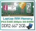 DDR2 667 2GB Laptop RAM Memory