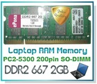 DDR2 667 2GB Laptop RAM Memory