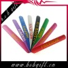 1 inch Colour and special logo printed silicone slap papa wristband