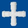 PVC Fittings:Cross (Gasket x Gasket x Gasket x Gasket)