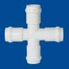 PVC Fittings:Cross (Gasket x Gasket x Gasket x Gasket)