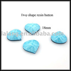Drop Shape New Design Wholesale Resin Button Avvessory