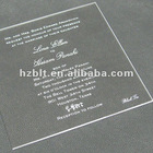 Silkscreen Printed Clear Acrylic Nameplate