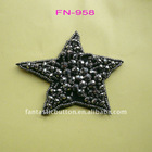 star shape glass beads trimmings FN-958