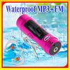 Latest!! LCD Waterproof mp3 player and swimming FM Radio2GB/ 4GB / 8GB