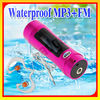 Latest!! LCD Waterproof mp3 player and swimming FM Radio2GB/ 4GB / 8GB