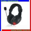 High Quality Noise Cancelling Overhead Headphone With Mic Black