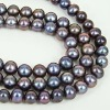 Top Quality Enhanced Copper Round Freshwater Pearls