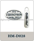 logo print metal Zipper Head
