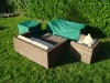 Outdoor, garden, patio PE rain cover for sofa piece