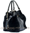 CX-H-43 Rex Rabbit Fur Women Sheepskin Designer Handbag New Arrival