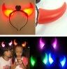 Wholesale FLASHING DEVIL HORNS - HALLOWEEN PARTY FANCY DRESS/ LED Party Favor Flashing Light Up Headband Dress Up