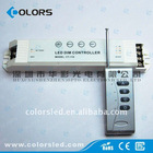 High quality power manual led dimmer/led controller (with smart button) (rgb )
