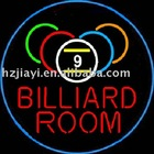 billiard ball neon sign and display