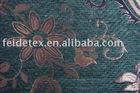 polyester sun flower chenille sofa fabric