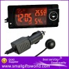 Multifunctional 5in1 Car Thermometer and Hygrometer and Clock and Calendar and Weather