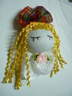 GD01 Handmade crochet fabric doll girl