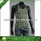 Summer Men's Ice Screen Cool & Breathable Pro Stretch Checkered Sleeveless Undershirt