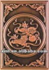 lions play the ball pattern bronze embossed mural painting