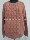 2013 latest lady cable sweater cable knitwear 100%ACRLIC CASHMERELIKE