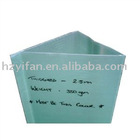 2012 new style hollow sheet made die cut printing sign corrugated plastic triangle shape notice sign (YF7504)