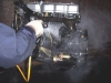 Degreaser for cleaning metal products and removing oil grease