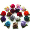 Satin Rose Flowers with Two Leaves IN STOCK