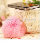 Fashion Fur Ball Phone Dustproof Plug