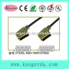 Gold plated W/nylon Braided metal shell 21p scart cable
