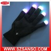 Black Led Gloves